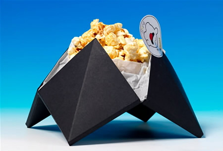 Cool Packaging Like Origami For Popcorn Jedemi