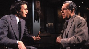 Bill Moyers interviewing Joseph Campbell for The Power of Myth, a TV documentary that aired in 1988.
