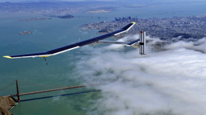 Solar Impulse glides over Golden Gate Bridge in San Francisco