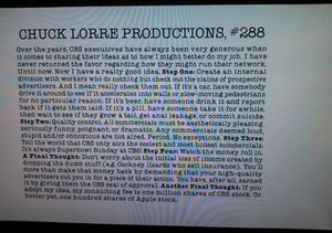 "chuck lorre essays Rocks: two and a half men and charlie sheen essay against chuck lorre, the producer of long-running cbs sitcom ""two and a half men"" since the actor's decisive."