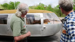 Newly re-created Dymaxion gets a test drive.