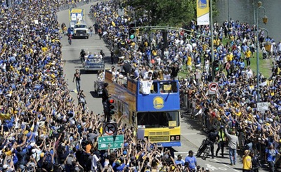 Warriors Championship Parade in Oakland, CA Friday, June 19, 2015. Photo: Michael Short