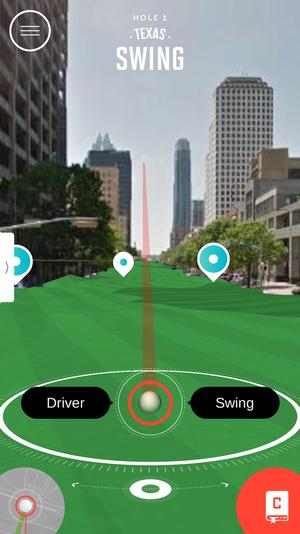 Screen shot - app in action.