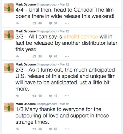 The director tweets...