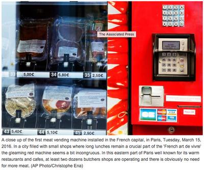 Meat vending machine Paris