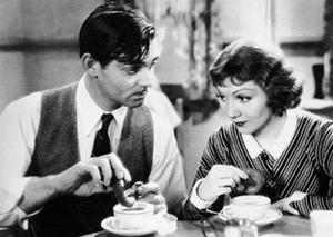 Capra It Happened One Night Donut Dunking Clark Gable