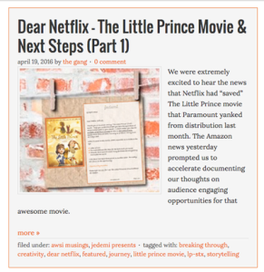 Dear Netflix The Little Prince movie