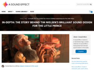 Asound Tim Nielsen Sound The Little Prnce movie
