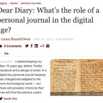 The Diary vs. Personal Journal in the Digital Age…