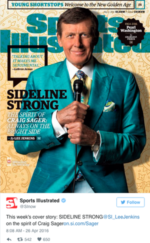 Craig Sager Sports Illustrated cover