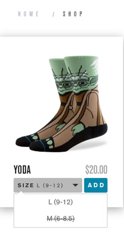 Stance Yoda Socks