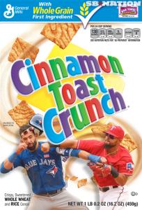 Bleacher Report Bautista Odor punch cereal box